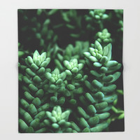 Succulent plants Throw Blanket by VanessaGF