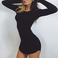 Fashion Sexy Bodycon Mini Dress