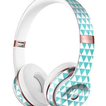 Blue-Green Watercolor Triangle Pattern Full-Body Skin Kit for the Beats by Dre Solo 3 Wireless Headphones
