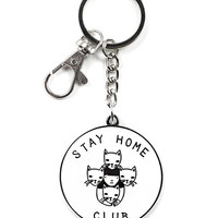 Stay Home Club Keychain