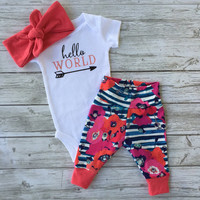 baby girl leggings baby girl coming home outfit  Newborn baby girl going home outfit going home from hospital outfit, take home outfit