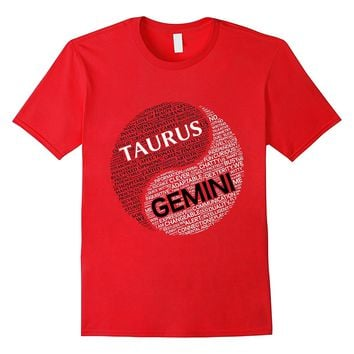 Zodiac Facts: Men & Women Taurus and Gemini T-shirt