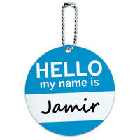 Jamir Hello My Name Is Round ID Card Luggage Tag