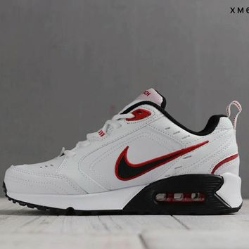 Nike Air Monarch IV Women Men Fashion Casual Running Sport Casual Shoes Sneakers White Black Red Hook G-SSRS-CJZX