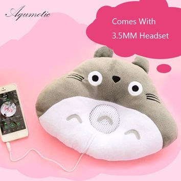Aqumotic Totoro music pillow Lunch break pillow Cute animals Travel pillows with headset Soft Music Leisure Comfortable