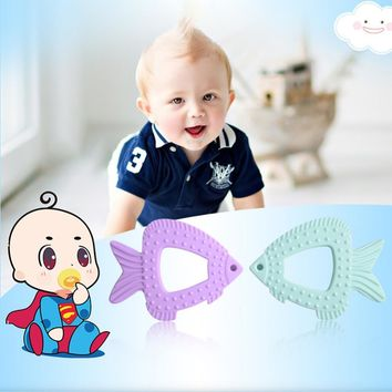 Baby Silicone Fish Shaped Molars Toys Teether
