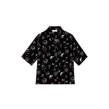 Sandro Courtney Scribble Print Shirt at Sandro US