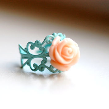 Sweet Nothings Shabby Chic Rose RIng