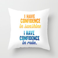 i have confidence in sunshine... sound of music inspirational quote Throw Pillow by studiomarshallarts