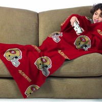 NFL San Francisco 49ers Youth Size Comfy Throw Blanket with Sleeves
