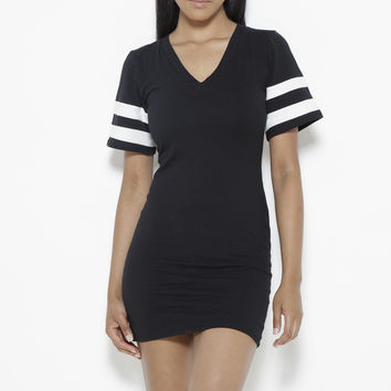 Instant Replay Dress-Black