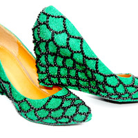 Mythical Green Scale Wedges