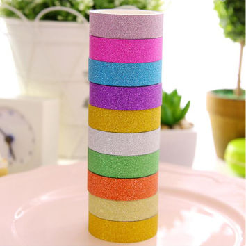 1 pcs Korean decorative adhesive tape scrapbooking tools washi stickers paper Candy Color Diary scotch DIY Office stationery