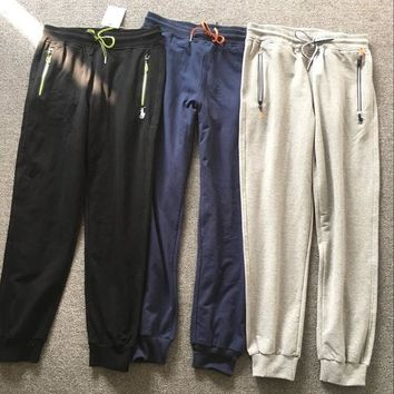 POLO Autumn new casual pants cotton drawstring zipper men trousers Wei pants