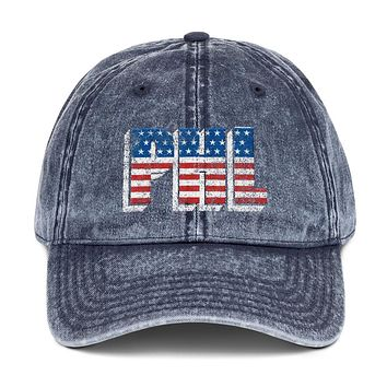 Red White and Philadelphia Vintage Cotton Twill Cap