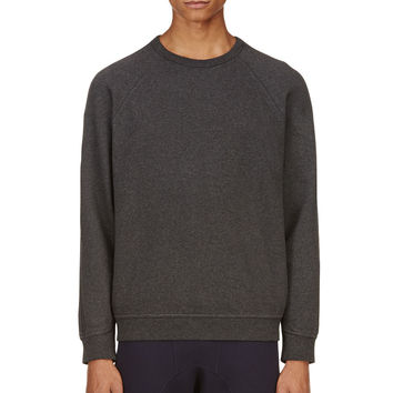 T By Alexander Wang Charcoal Fleece Lined Sweatshirt