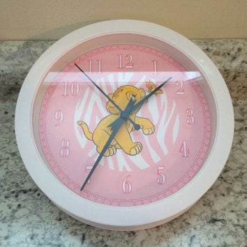 Lion King Nala Simb Wall Clock M2M Disney Nursery Bedding Zebra Leopard Decor