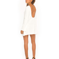 Motel Dimitri Scoop Back Dress in Nanna Knit White