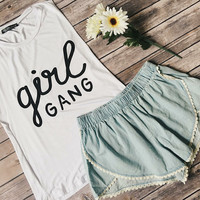 Girl Gang Tank (White)