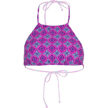 O'Neill Ocean High Neck Halter Bikini Top - Women's Berry,