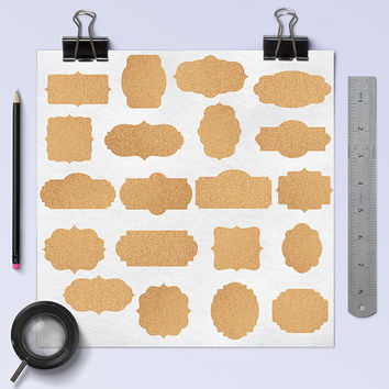 "Cork frames clipart: ""CORK FRAMES"", digital clip art pack with cork borders, digital tags, printable labels for scrapbooking"