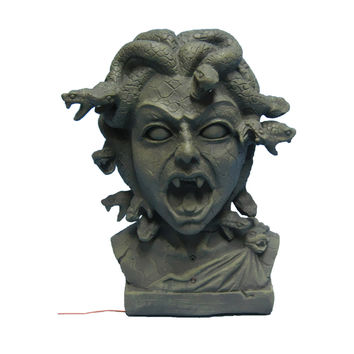 Morris Costumes Halloween Medusa bust 11 inch animated