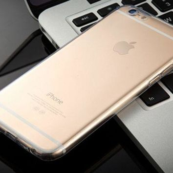 DCCKR2 Iphone6S plus new protective phone case ultra-thin transparent protective cover