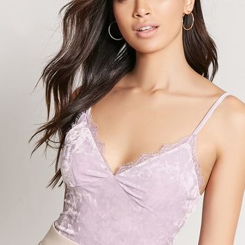 Velvet Lace Cami Top