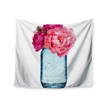 "Oriana Cordero ""Perfect Mason"" Blue Pink Wall Tapestry"