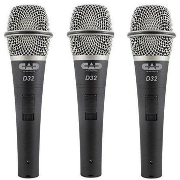 CAD Audio D32X3 Pack of 3 D32 Supercardioid Dynamic Vocal Microphone