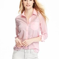 Old Navy Womens Classic Oxford Shirt