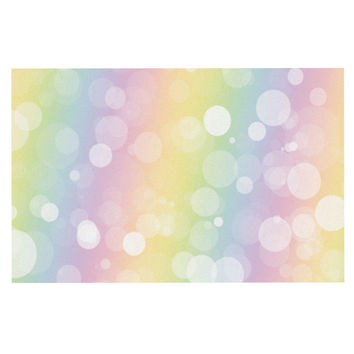 "KESS Original ""Pastel Prism"" Rainbow Bokeh Decorative Door Mat"
