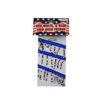 Red, White and Blue Seed Bead Fringe