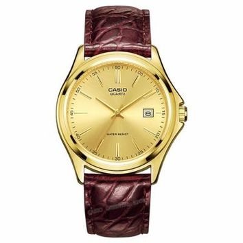 CASIO - Gold Quartz MTP-1183Q-9A Men Wrist watch