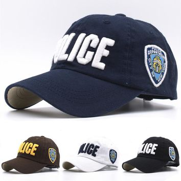 11 Colors Kids High Quality Cotton Police Baseball Caps for Boys Girls Bone Gorras  Hat  Snapback Caps