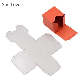 She Love Scrapbooking Metal Cutting Dies Square Candy Gift Box DIY Photo Album Decorative Embossing Stencils Card Template
