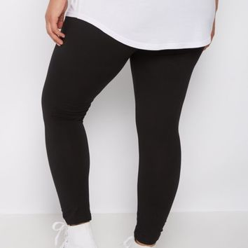 Plus Black High Waist Soft Knit Legging | Plus Leggings | rue21