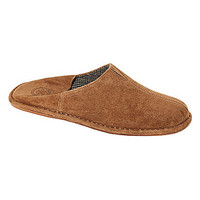 L.B. Evans Pierce Suede Slippers - Tobacco