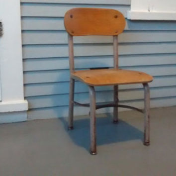 Kids Chair, Childrens Chair, School House Chair, Childrens Desk Chair, Vintage
