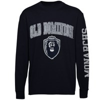 Mens Old Dominion Monarchs Navy Arch & Logo Long Sleeve T-Shirt