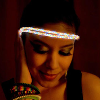 Light up headband, rave head band, rave hair wear, rave wear