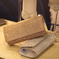 Designer Crystal Clutch Evening Bags Women Silver Luxury Crystals 2017 Women Evening Bags Designer femme crystal clutch