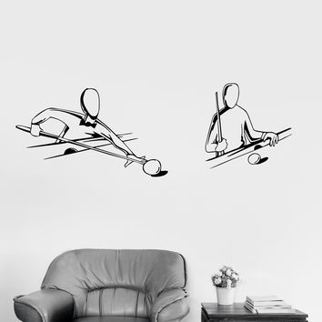 Vinyl Wall Decal Billiards Entertainment Center Stickers Mural Unique Gift (144ig)