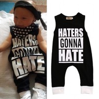 Toddler Kids Baby Boys Girls Clothes Sleeveless Cotton Romper Jumpsuit Outfits Clothes
