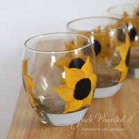 Sunflower Kitchen Coolers 12oz - hand painted by Judi Painted it