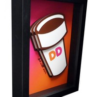 Dunkin Donuts 3D Pop Art - Handmade in the USA