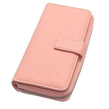 Cyanb Soft Leather Wallet for Women Long Large Multi Card Holder Organizer Travel Purse