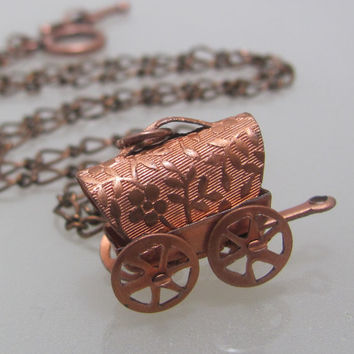 Copper Prairie Drifter (A stage coach necklace)