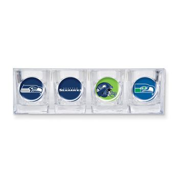 NFL Seahawks 4-piece Shot Glass Set - Etching Personalized Gift Item