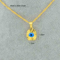 Aliexpress.com : Buy Small mini gold blue eye 18k gold plated filled evil eye pendant necklaces chain kids girls arabic jewelry Item new new arrival from Reliable chain jewelry stores suppliers on Golden Mark Jewelry Factory
